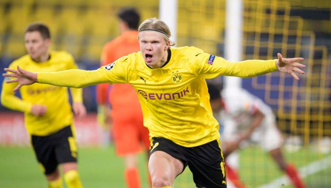 Erling Haaland is looking to end a four-game run without scoring