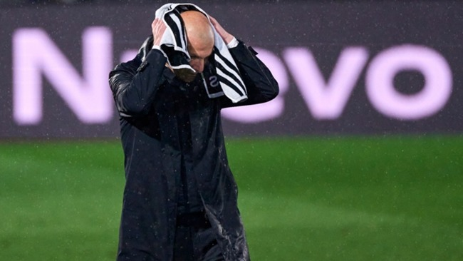 Zinedine Zidane during the draw with Real Betis