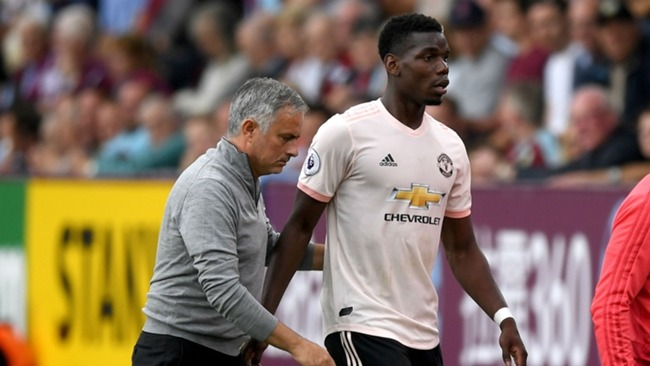 Jose Mourinho and Paul Pogba at Manchester United