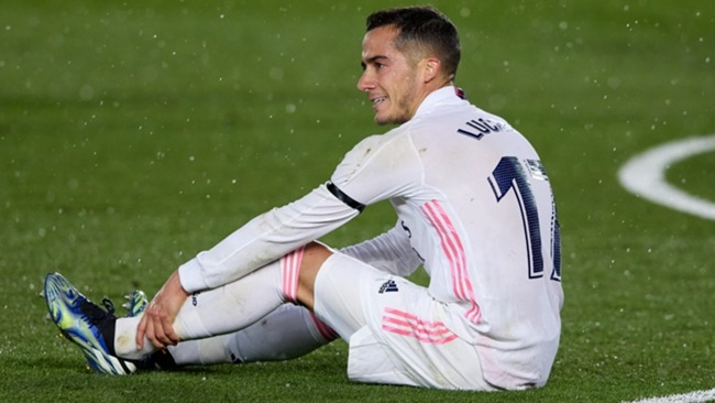 Lucas Vazquez was injured in Real Madrid's win over Barcelona