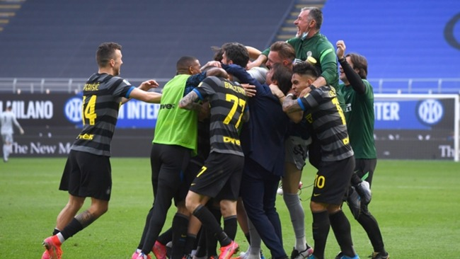 Newly crowned Serie A champions Inter celebrate