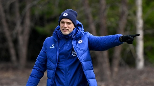 Thomas Chelsea pictured during a Chelsea training session
