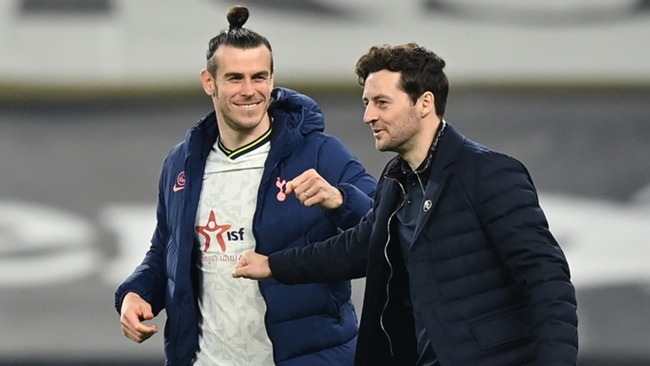 Gareth Bale (l) and Ryan Mason pictured after Tottenham's win against Sheffield United