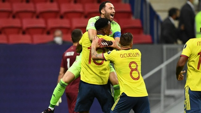 David Ospina and Colombia celebrate