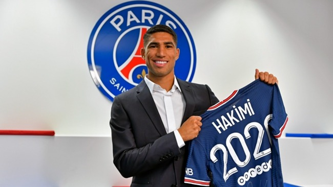 Achraf Hakimi signed a five-year deal with PSG