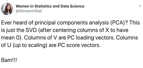 PCA is a special case of SVD