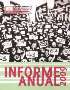 Informe 2009 - portada - biblioteca