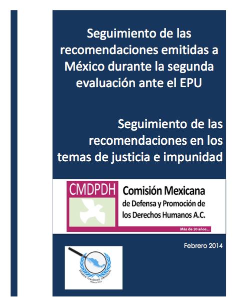 Seguimiento de recomendaciones sobre justicia e impunidad