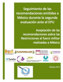 Aceptación de recomendaciones sobre restricciones al fuero militar