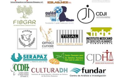 Carta a SRE para que México acepte competencia de Comité ONU de Desaparición Forzada para recibir peticiones individuales