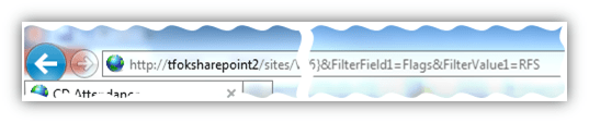 SharePoint URL reflecting filter choices