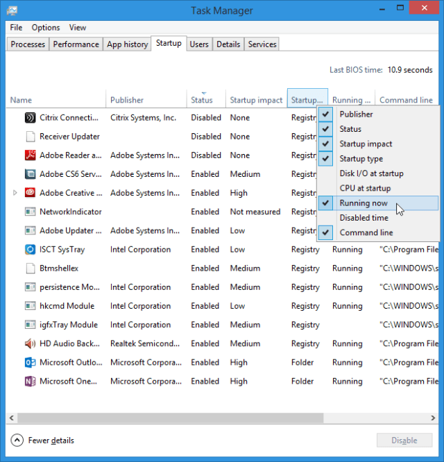Find and disable startup apps from Task Manager or MSCONFIG. Right click column headings to add details for finding an app's origin.