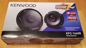 $20 - Pair of Kenwood 6-1/2 inch 2way 300-watt flush-mount speakers (Model KFC-1665R)