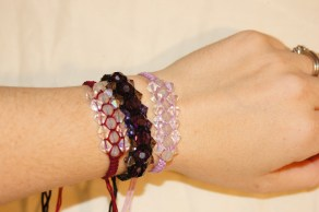 Three Swarovski bracelets ready to sell