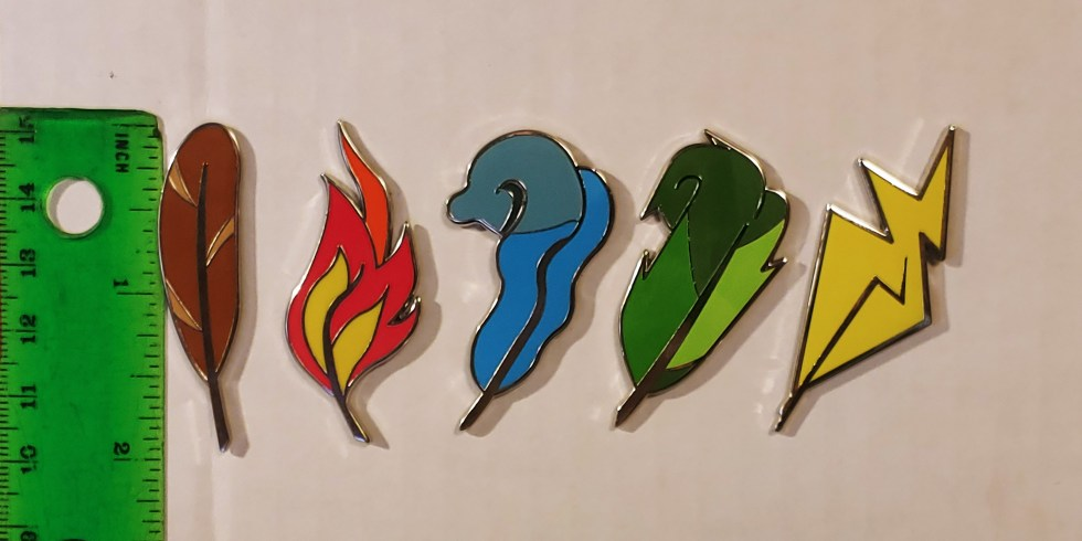 Feather Enamel Pins
