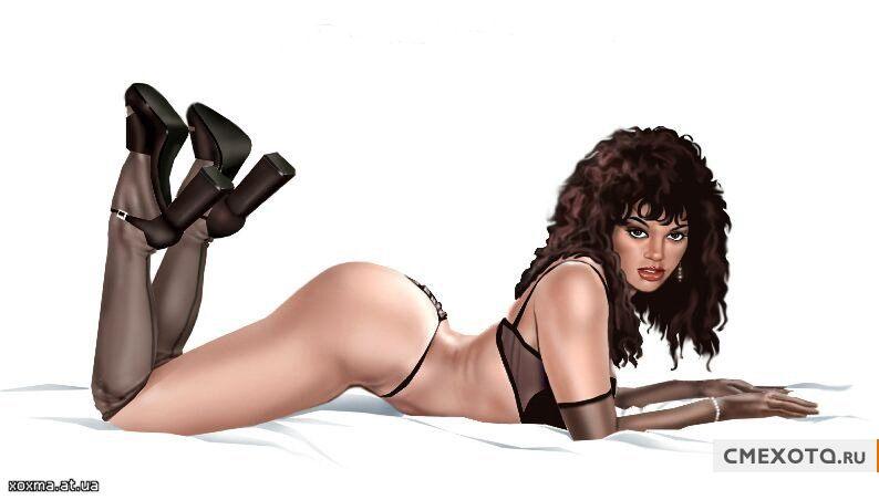 Сексуальные рисованные девушки (Часть вторая) (30 картинок)