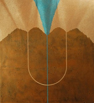 Psiche: acrilico injection painting su tela 2006 - 110x100cm