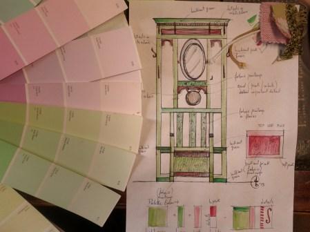 Color confetto rosa acerbo con verdi pastello e accenti squillanti