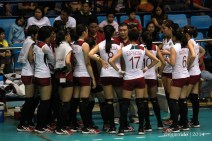 the Lady Maroons getting instructions from Coach Jerry Yee