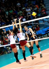 Paat's attempt is denied by Ortiz and Bersola