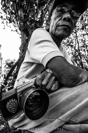 Manong Boy has been a photographer since the 1970s and still shoots film.
