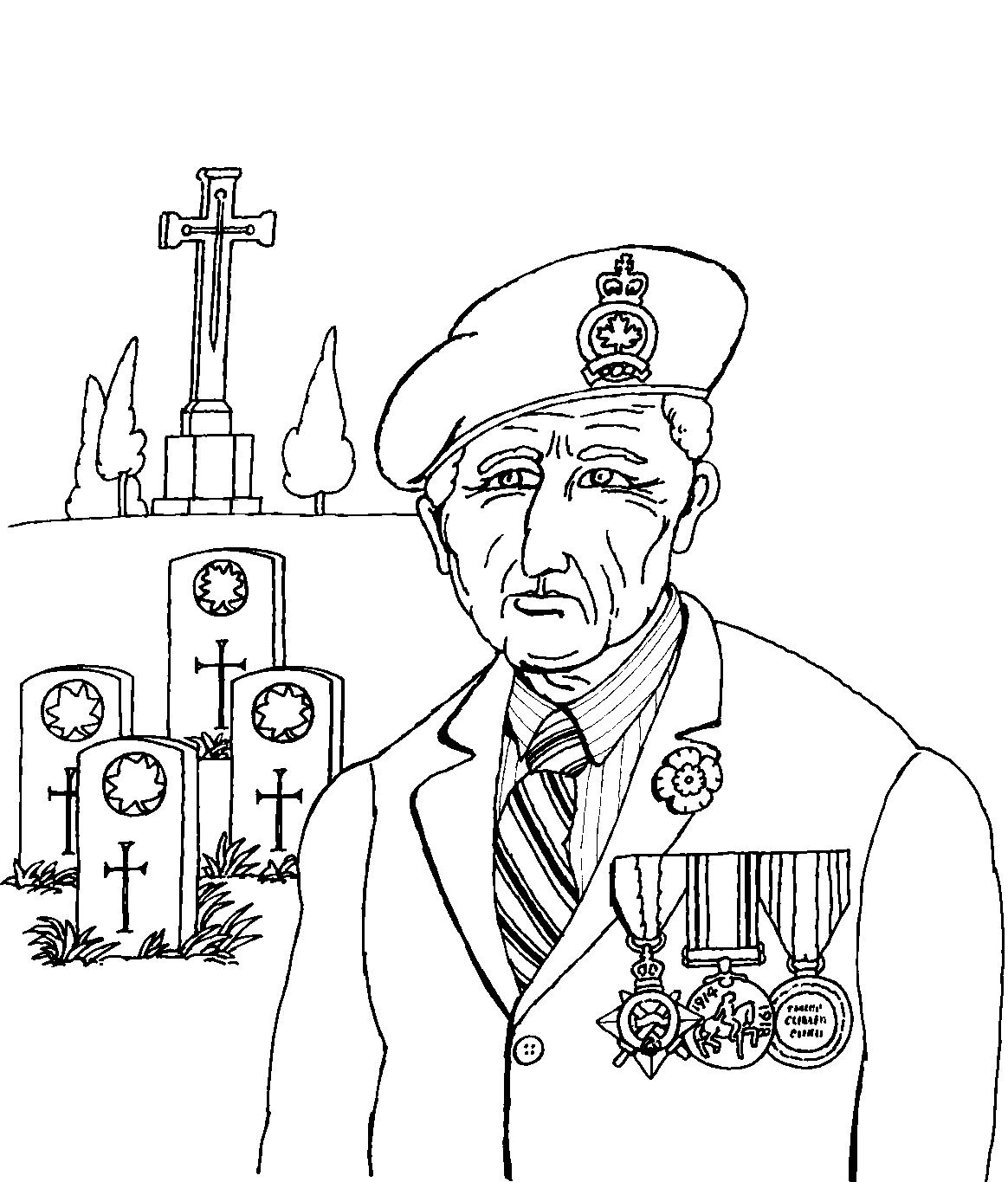 Canadian Remembrance Day Coloring Pages