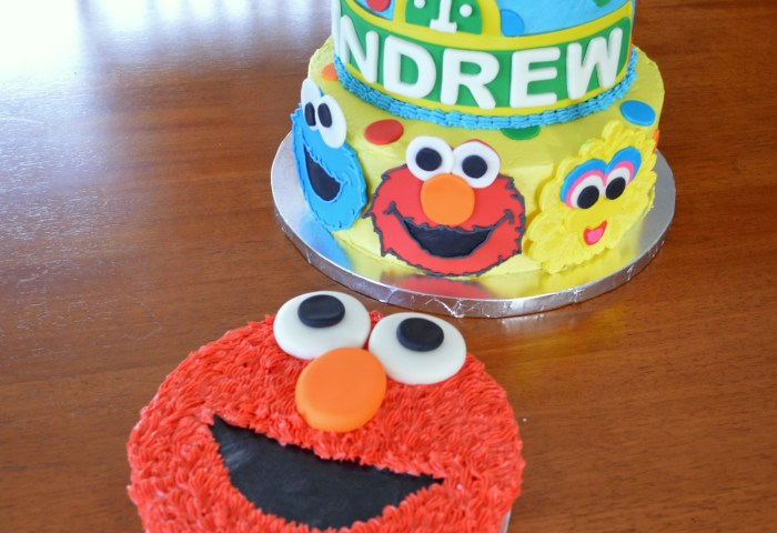 Sesame Street Characters Cake And Elmo Smash Cake A Little Of This