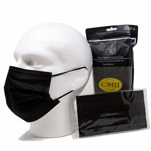 Individually Wrapped Black Face Mask
