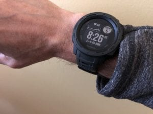 Garmin Instinct on my wrist