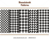 stock-vector-set-of-seamless-black-and-white-houndstooth-vector-patterns-280323413