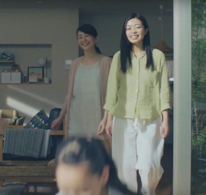 森林永理奈  押田恵 YKKAP CM