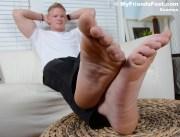 male bare feet
