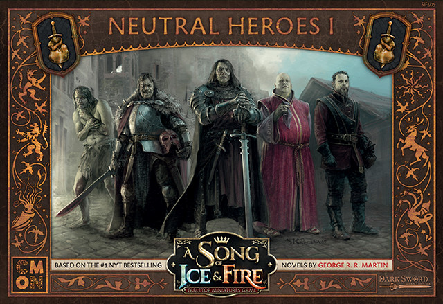 Image result for a song of ice and fire tabletop miniatures game neutral heroes