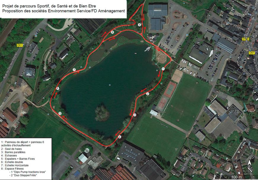 Plan du parcours sportif de Montville