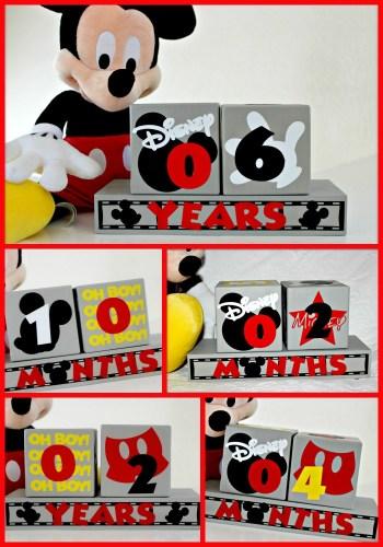 Mickey Mouse Birthday Blocks