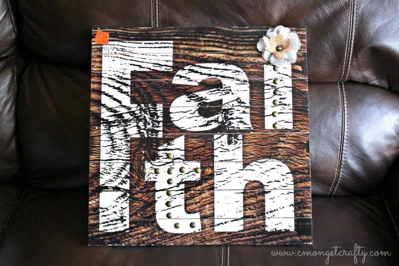 DIY WINTER WOOD SIGN