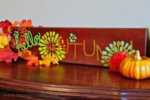 DIY Autumn Sign with FolkArt Paint & Stencil