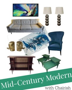 Mid-Century Modern Mix and Match Style Challenge with Chairish
