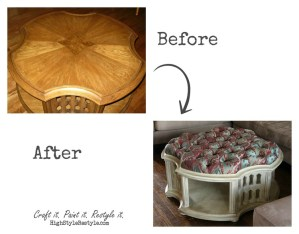 Coffee Table Turned Ottoman: Spotlight on Amy!