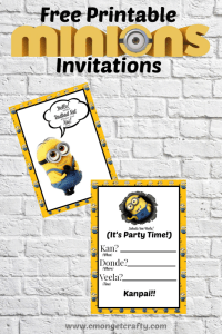 Minions Printable Invitation {Pretty Printables}