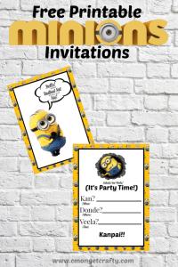 Minions Printable Invitation