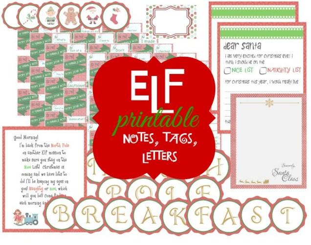 Elf on the Shelf Ideas - Plenty of fun ideas for your Elf this season! Links to printables as well!