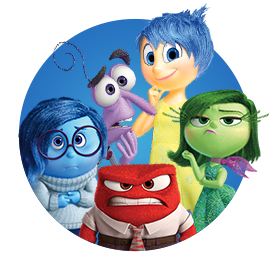 Inside Out Character Masks