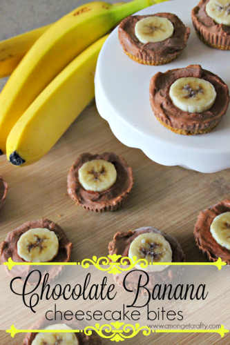 Chocolate Banana Cheesecake Bites