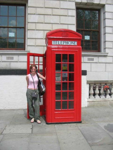 My friend Simon thought I was looney for wanting to take a photo by a phone box!