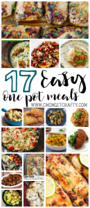 If you are lazy like me, or busy like me, then you can appreciate a good meal that basically makes itself. So I put together a list of 17 easy one pot meals, from slow cookers to single sheet bakes. Enjoy!