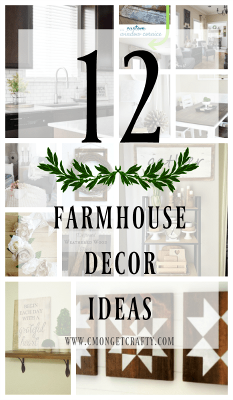 If you're like me, you have a love affair with Joanna Gaines and farmhouse style decorating. I've pulled together 12 farmhouse decor ideas to inspire you!