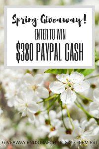$380 Spring Giveaway!!!