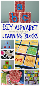DIY Alphabet Blocks for Learning {Monthly Crafty De-stash}