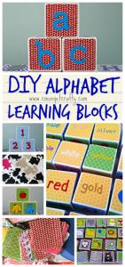 DIY Alphabet Blocks for Learning {Monthly Crafty De-stash}